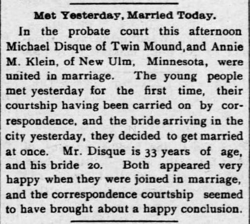 Lawrence Daily Journal, Lawrence, Kansas, 7 January, 1898.