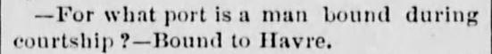 Courtship Quip 2. Vermont Phoenix. Brattleboro VT. 16 May 1873
