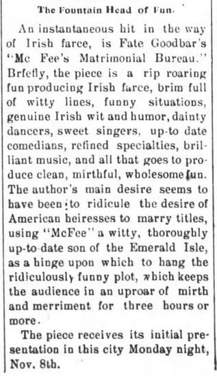 The Press-Visitor of Raleigh, North Carolina, on 3 November, 1897.
