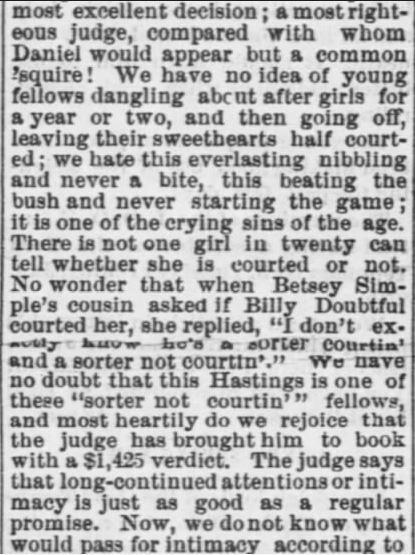 Part 2. The Tiffin Tribune of Tiffin, Ohio, 22 January, 1874.