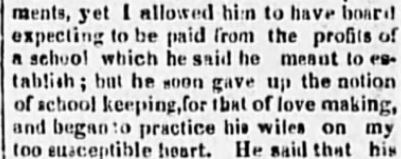 Kristin Holt | 19th Century Definition of Love Making is obtained in this 1822 context ~ A snippet from Poughkeepsie Journal, part 1. (11 September, 1822)