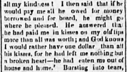 Kristin Holt | G-rated definition of love making shown in context (1822)~ Another snippet, a few paragraphs later from Poughkeepsie Journal (on 11 September, 1822).