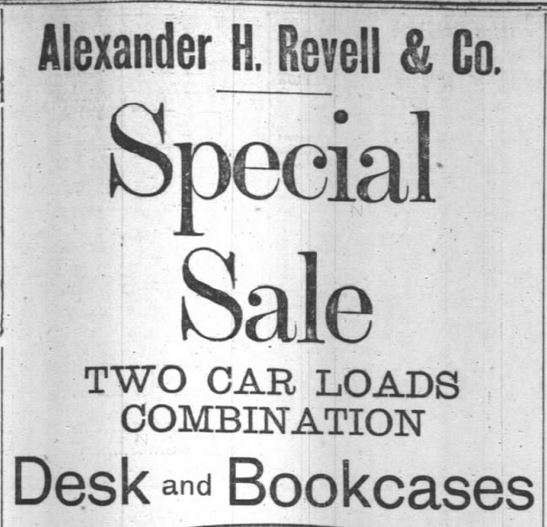 Special Sale. Desk Bookcases. Part 1. Chicago Daily Tribune, Chicago, Illinois, on 6 December, 1891.