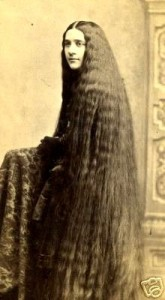 Kristin Holt | L-O-N-G Victorian Hair. Vintage Photograph: One of the Seven Sutherland Sisters, image from Pinterest.