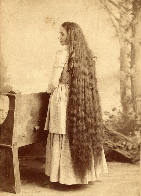 Victorian Long Hair. From Flicker and Pinterest.