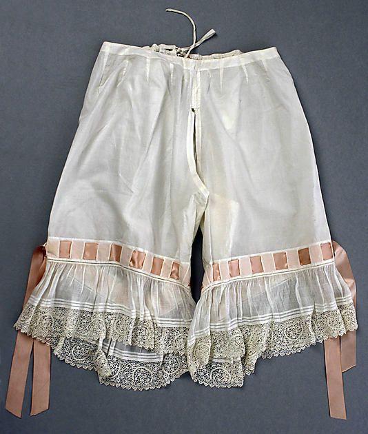Kristin Holt | Victorian Ladies Underwear. Photograph of vintage Cotton Drawers, circa 1890. Photo courtesy of Pinterest.