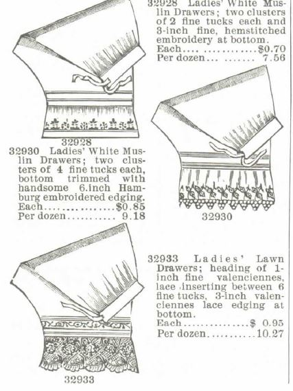 Cotton Drawers.Part 2. Montogmery Ward Spring and Summer 1895