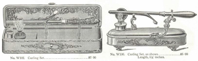 Curling Irons sold by Marshall Fields Catalog, 1896.