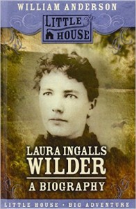 Note: this photograph of Laura Ingalls Wilder on the book cover of a nonfiction bigraphy illustrates Laura's hair with bangs cut and curled on the forehead.