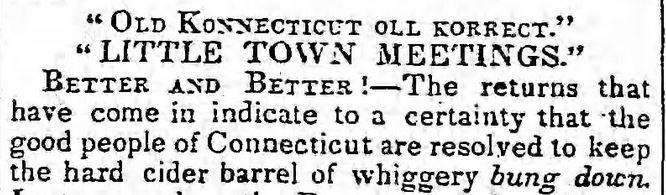 The Brooklyn Daily Eagle, Brooklyn, New York, on 24 October, 1842.