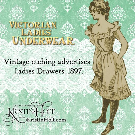 Kristin Holt | Victorian Ladies Underwear. Vintage Etching Advertises Ladies Drawers 1897