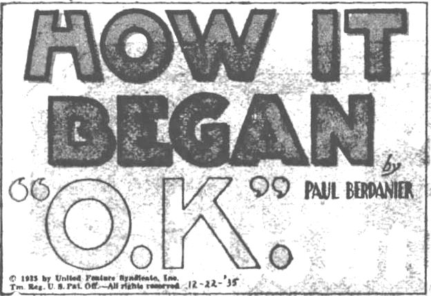 corrected How it Began. part 1. The Evening News. Harrisburg PA. 21 Dec 1935