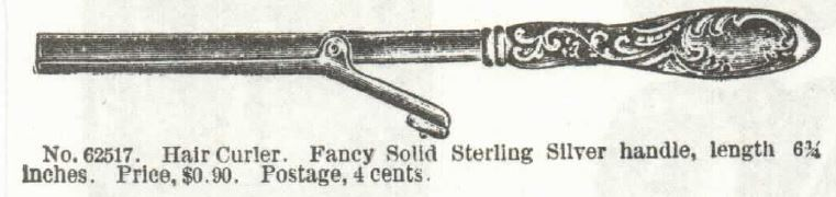 hair curler. sears catalog 1897 no 104