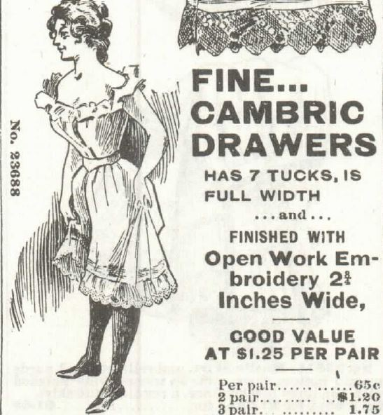 white drawers. Sears Roebuck 1897 Part 3