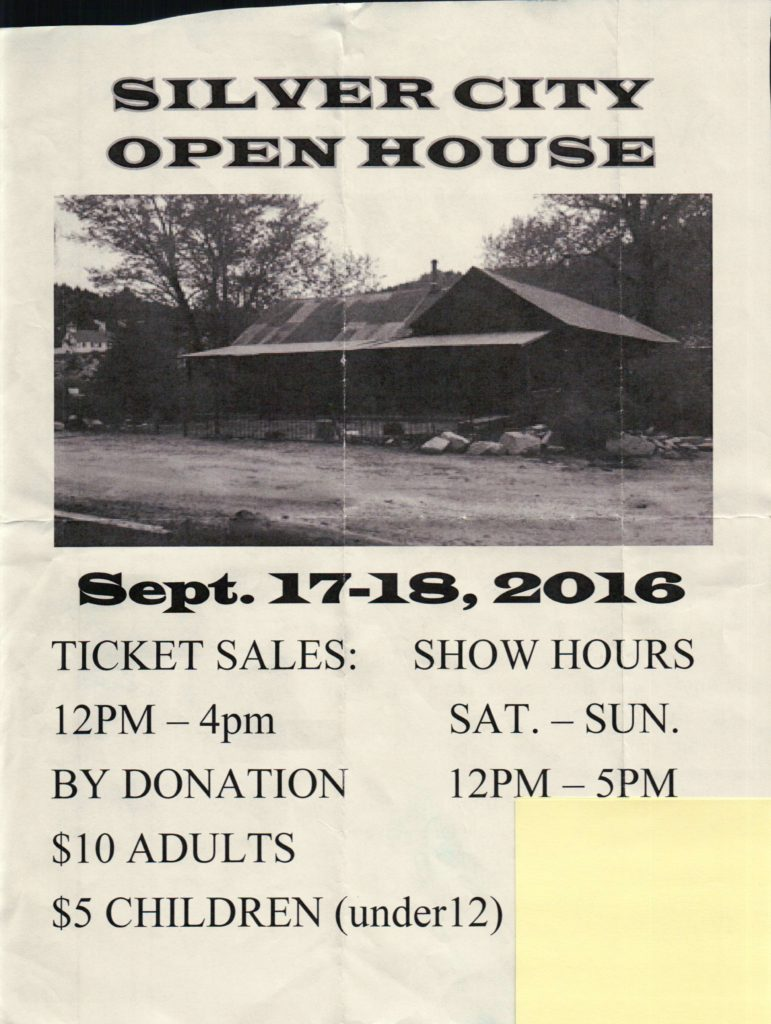 Silver City Open House Flyer (2016), Page 1 of 2