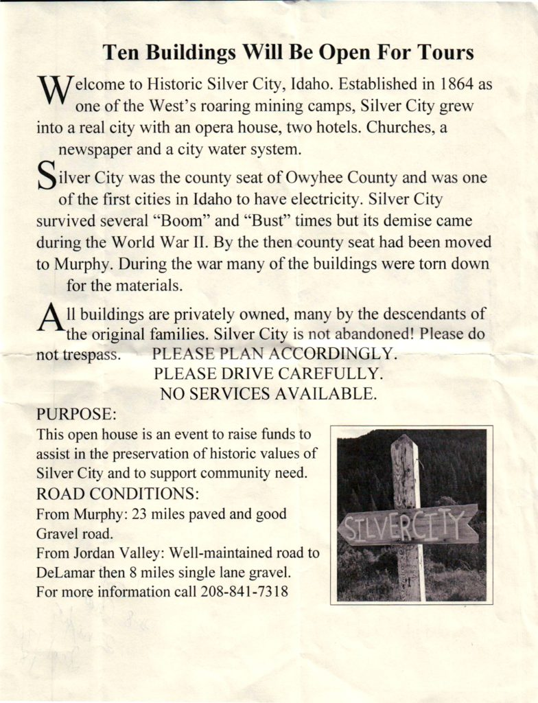 Silver City Open House Flyer (2016), Page 2 of 2