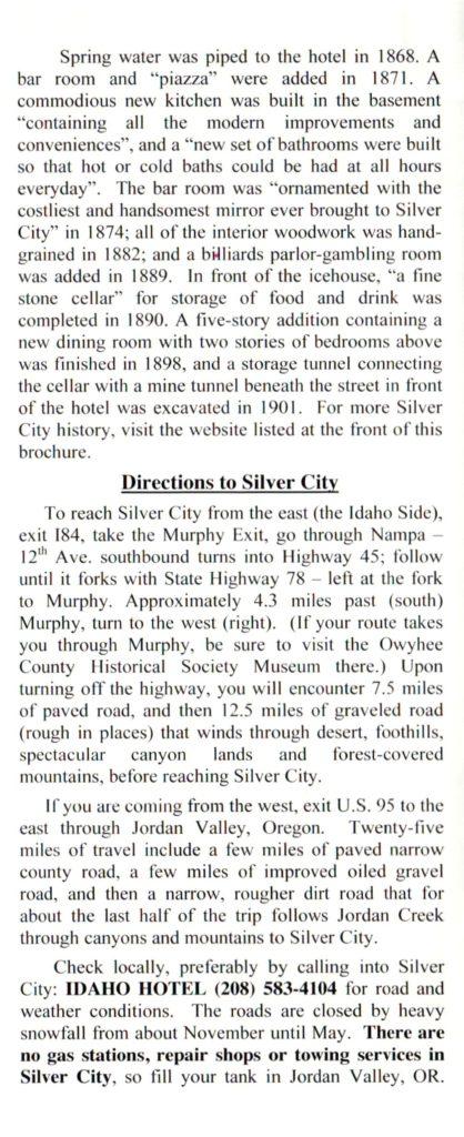 Idaho Hotel Pamphlet, Page 4