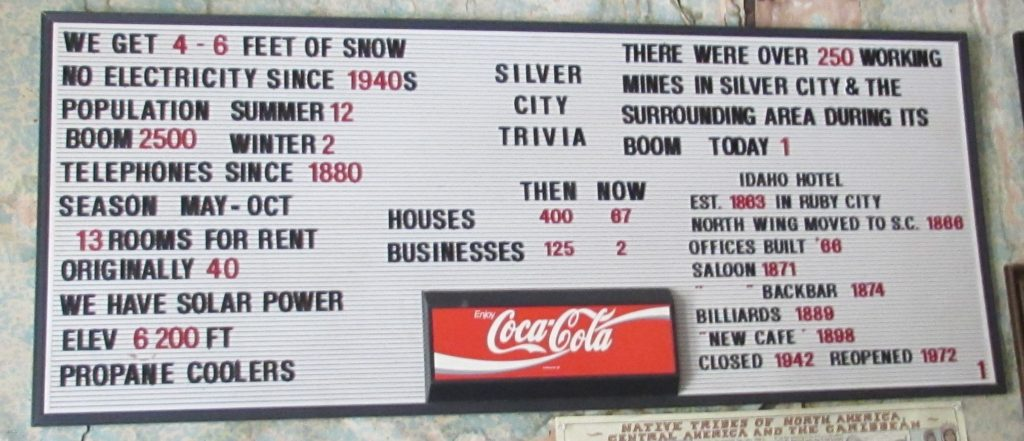 Silver City Trivia, including details about the city as well as the hotel's history.
