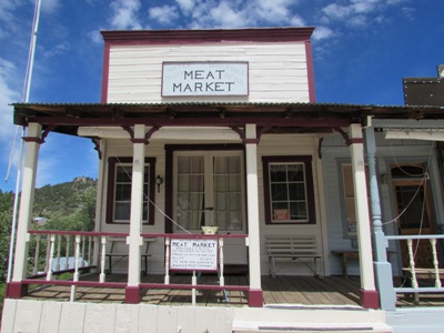 Historic Hoffer Miller Meat Market in Silver City, Idaho. Image: 2016, taken by Kristin Holt.
