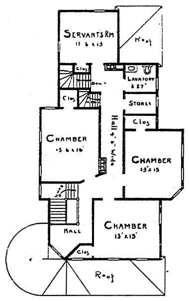 Lessie's House, floor plan, second story.