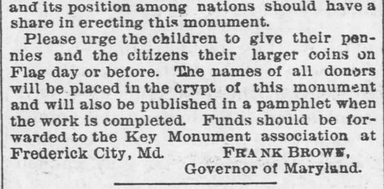 Patriotic Appeal. Francis Scott Key. Part 2. Garnet Journal of Garnett, Kansas on May 3, 1895