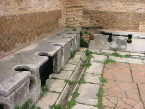 Roman Public Toilets. [Image: Public Domain, courtesy of wikipedia]