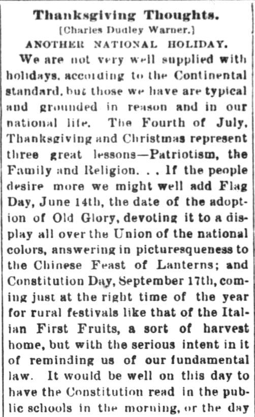The Argos Reflector of Argos, Indiana, on December 1,1887.