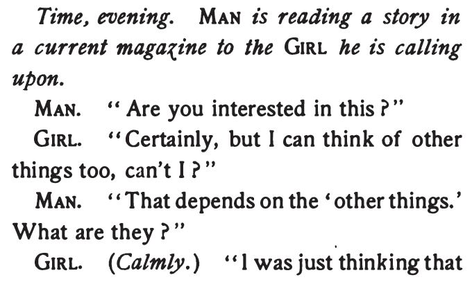 The Spinster Book, A Man's Conceit, Part 1