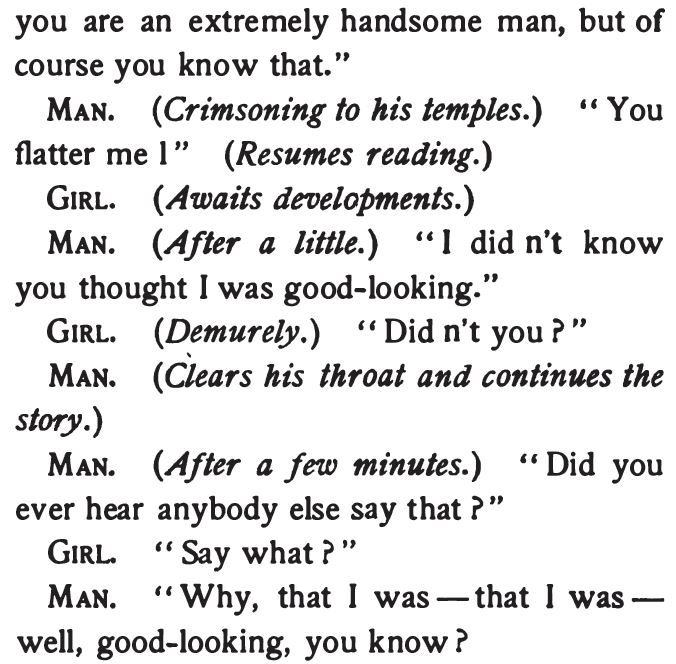The Spinster Book, A Man's Conceit, Part 2