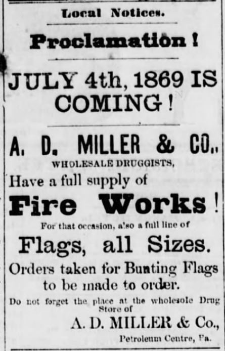 Kristin Holt | Victorian America Celebrates Independence Day. The Petroleum Centre Daily Record of Cornplanter, Pennsylvania on June 17, 1869.