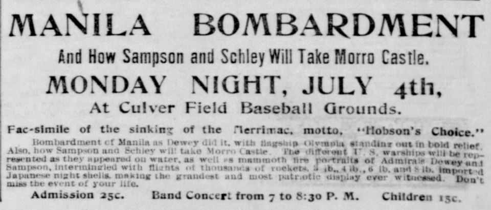 Battle reenactment. Democrat and Chronicle of Rochester, New YOrk, on June 22, 1898.