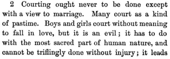 Kristin Holt | A Proper Victorian Courtship; The Marriage Guide for Young Men, part 1, p 58.
