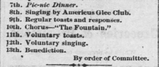 Grand Celebration. Part 2. The Emporia Weekly News of Emporia Kansas on June 25, 1869.