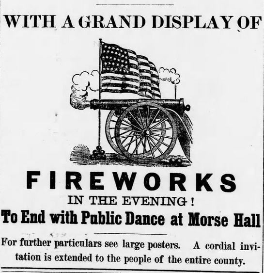 Kristin Holt | Victorian America Celebrates Independence Day. Old-Time Celebration. Part 2. The Philipsburg Mail of Philipsburg Montana on June 13, 1889.