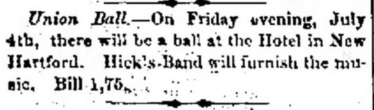 Union Ball. Cedar Falls Gazette of Cedar Falls, Iowa, on June 13, 1862