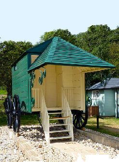 Queen Victoria's Bathing Machine, via Pinterest.