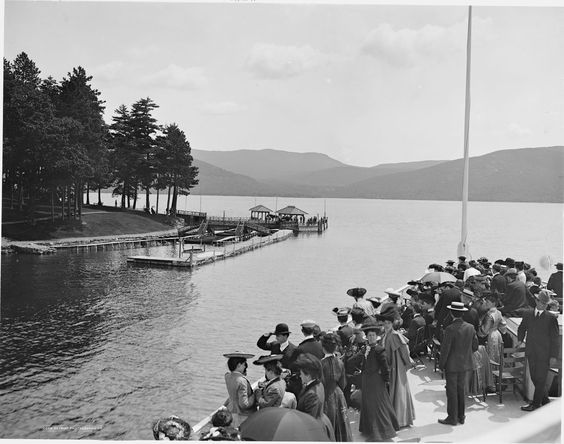 approaching Green Island Sagamore Dock 1900-1919. Image, via Pinterest.