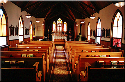 Interior of Our Lady of Tears. Image: Courtesy of OurLadyOfTears.org.