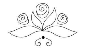rose line art2