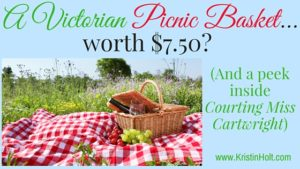 A Victorian Picnic Basket... worth $7.50_