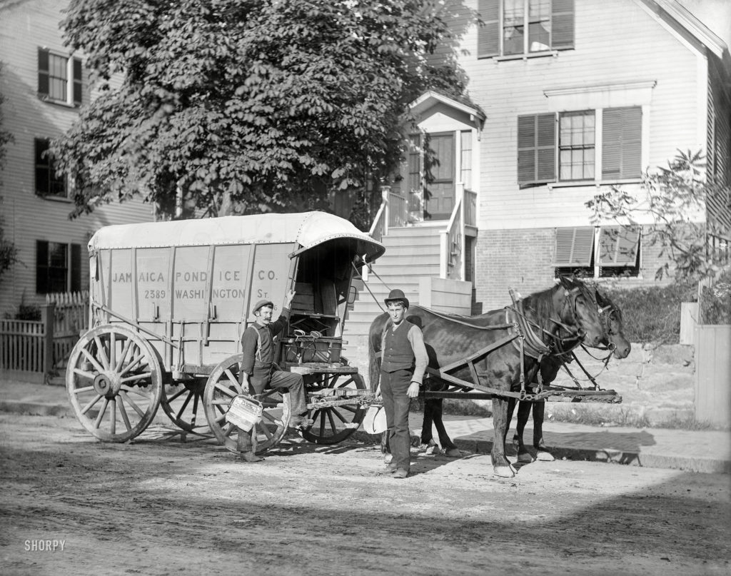 Boston Ice Delivery Wagon. Image via Pinterest from http://hdl.loc.gov/loc.pnp/ppmsca.49551