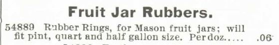 Fruit Jar Rubbers. Monttomery Ward 1895