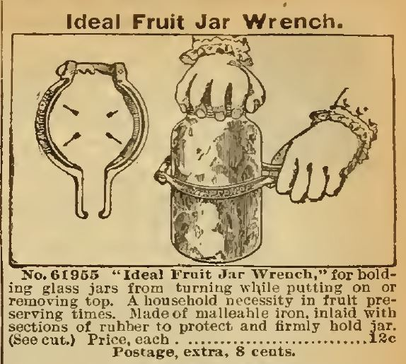 Fruit Jar Wrench. Sears 1898
