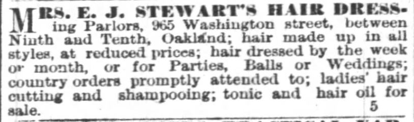 Kristin Holt | Victorian Ladies' Hairdressing. Oakland Tribune of Oakland, California, on June 19, 1883