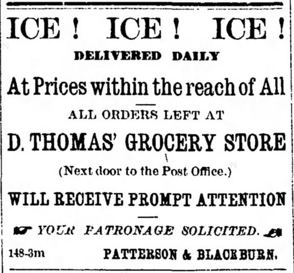 Ice Delivery. The Montana Standard of Butte, Montana, on October 16, 1879