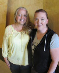 Kelli Ann Morgan (left) and Jen Cooper (fan of Kelli Ann's Redbournes Series, right)