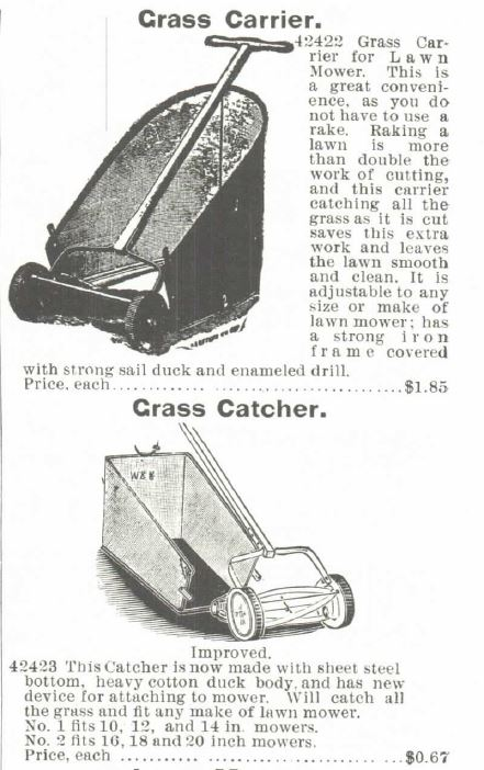Lawn Mower. Catchers. Montgomery Ward Spring and Summer 1895