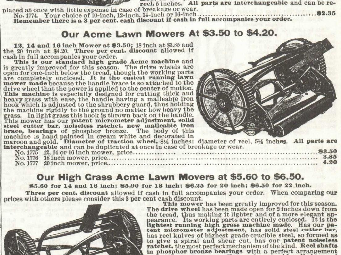 Lawn Mower. Part 2. Sears 1897