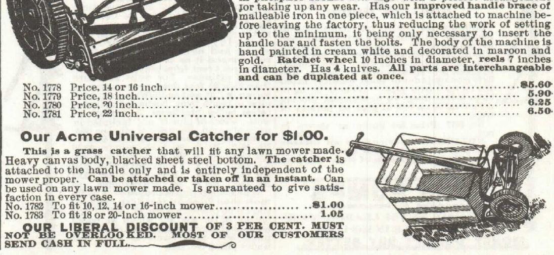 Lawn Mower. Part 3. Sears 1897