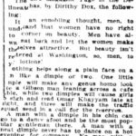 Look to your dimples. part 1. The Houston Post of Houston, Texas on October 29, 1910